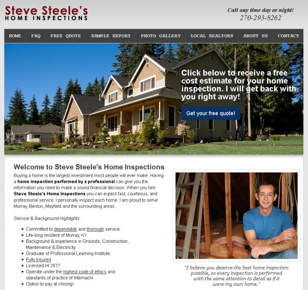 Steve Steele\'s Home Inspections Website Design | Blog ...