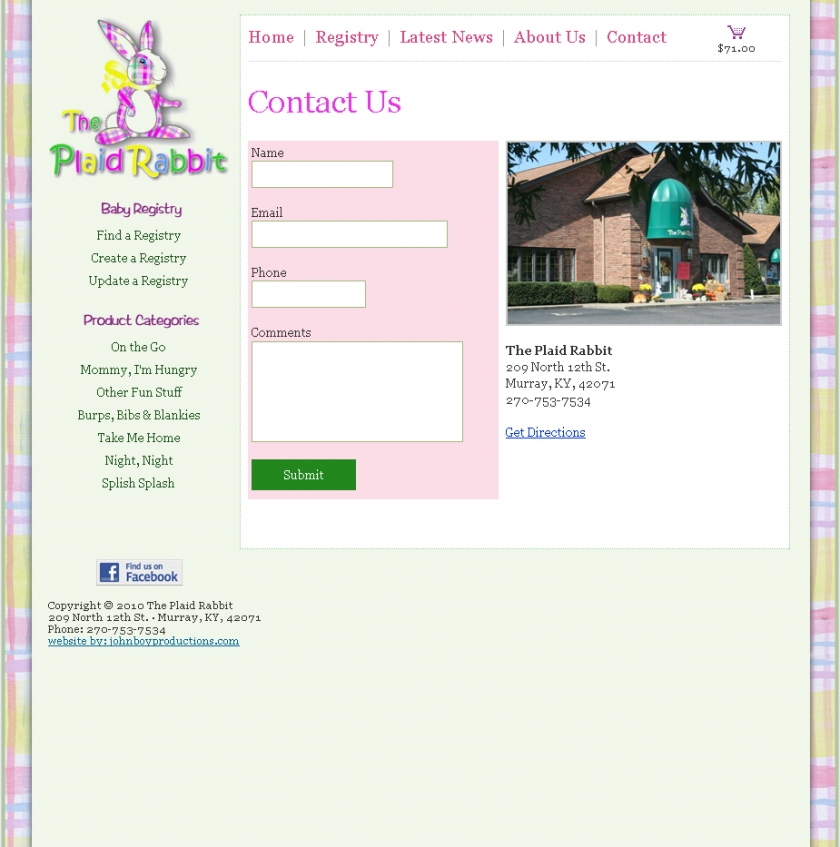 Contact Page With Ajax Form